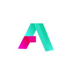 modern initial letter a design logo vector image
