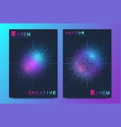 Modern template for brochure leaflet flyer vector