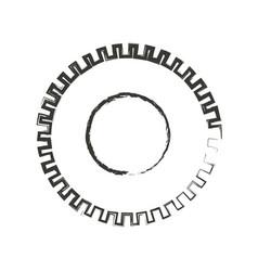 Monochrome blurred silhouette of pinion icon vector