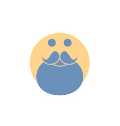 Moustache hipster movember santa beared glyph icon vector