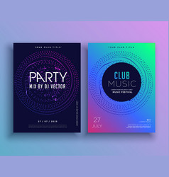 music club party flyer template design vector image