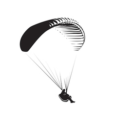 Paragliding vector image