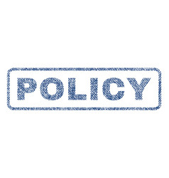 Policy textile stamp vector