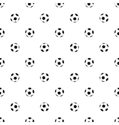 Seamless pattern with soccer balls on white vector image vector image