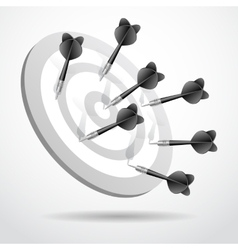 Set of darts black game concept sport vector