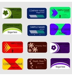 Set of Modern Creative Business Card vector image