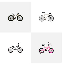 Set of realistic symbols with track cycle bm vector
