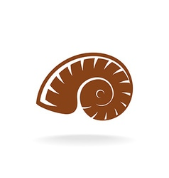 Shell silhouette Snail home vector