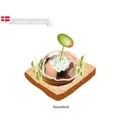 smorrebrod with spiced meat roll the national dis vector image