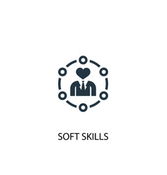 soft skills icon simple element vector image