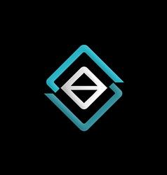 square construction symbol logo vector image