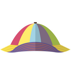 Striped kids cap or hat isolated on white vector