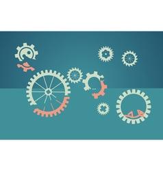 Teamwork concept - lazy worker vector
