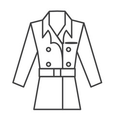 thin line coat icon vector image