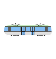 tram flat icon and logo cartoon vector image