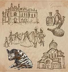 Travel Georgia - An hand drawn pack vector