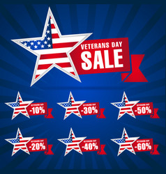 veterans day usa sale blue vector image