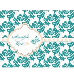 Vintage card with lace ornaments vector image