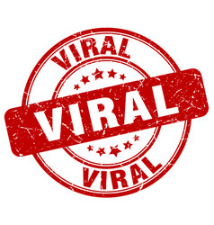 Viral red grunge stamp vector