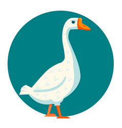 White goose vector