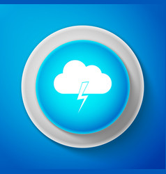 white storm icon isolated on blue background vector image