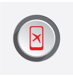 Airport plane icon mobile phone turn off vector