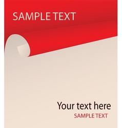 bent paper vector image vector image