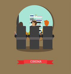 cinema concept in flat style vector image