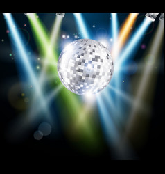 disco mirror ball background vector image vector image