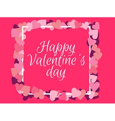 Happy Valentines Day Background for a card vector image vector image