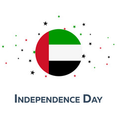 independence day of united arab emirates vector image