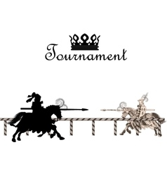 Knight Medieval Tournament vector image vector image