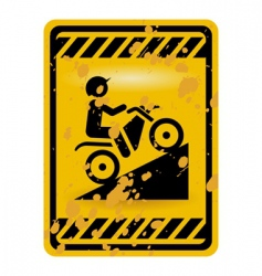 motor bike trail sign vector image