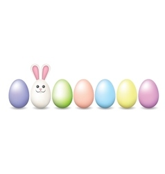 Row of Easter pastel eggs vector image