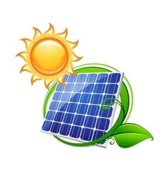 Solar panel or battery vector image