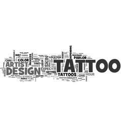 what to expect when you get your tattoo text word vector image