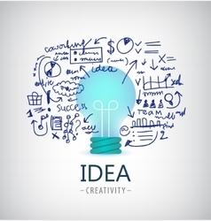 brainstorm idea business vector image
