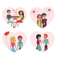 couples in love images set vector image