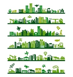green city vector image vector image