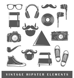 Retro hipster elements vector image