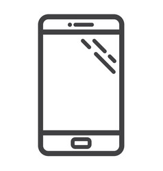 Smartphone line icon phone and touch screen vector