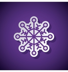 snowflake concept design vector image vector image