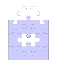 Abstract home puzzle 11 vector image vector image