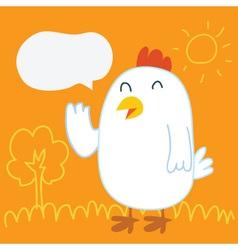 Chicken Balloon talk vector image vector image