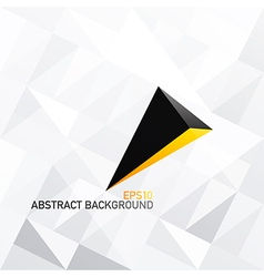 Triangle white abstract background with 3D arrow vector image vector image