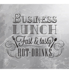 Business Lunch coal 2 vector image