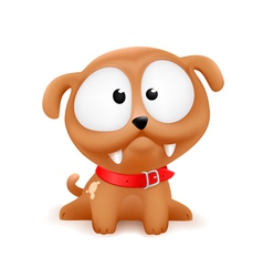 cute cartoonish puppy vector image vector image