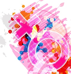 female symbol on art background vector image vector image