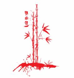 ink bamboo vector image vector image