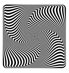 op art abstract design vector image